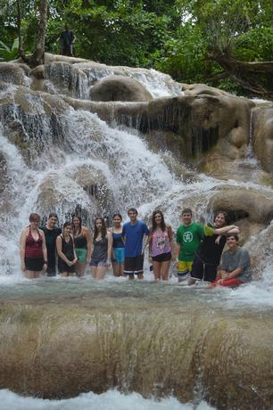 Dunn's River Falls, one of  Jamaica's most popular sites!