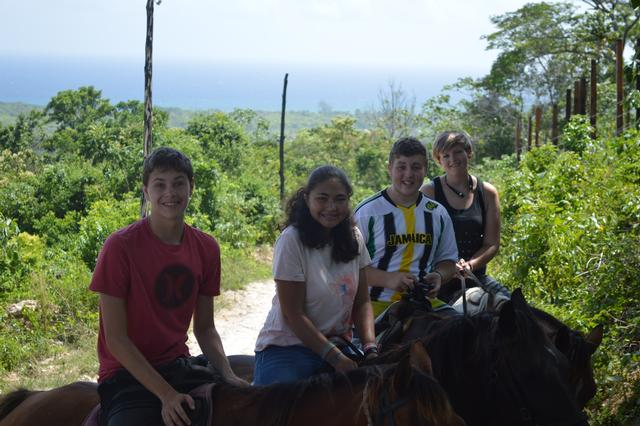 Horseback riding in the mountains!
